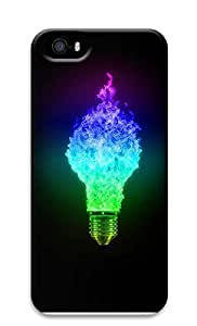 iPhone 5 5S Case Blue And Green Light Bulbs 3D Custom iPhone 5 5S Case Cover