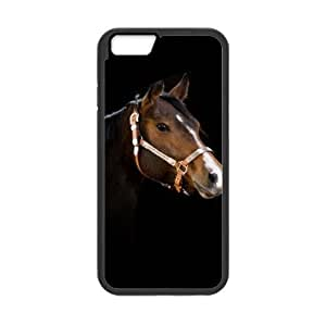 Black Background,Racing Horse Plastic and TPU (Laser Technology) cases for Apple iPhone6 4.7""