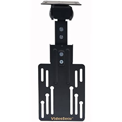 """VideoSecu Kitchen Under Cabinet Mount TV Ceiling Mount Folding Flip Swivel Mount Bracket for most 13 to 23"""", some up to 27"""" 30"""" LCD LED TV Monitor Flat Panel Screens with VESA 100X100 MLU01B 1KY"""