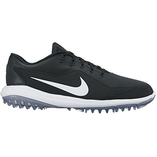 Nike Men's Lunar Control Vapor 2 Golf Shoes, Black/White/Cool Gray, 11.5 M US