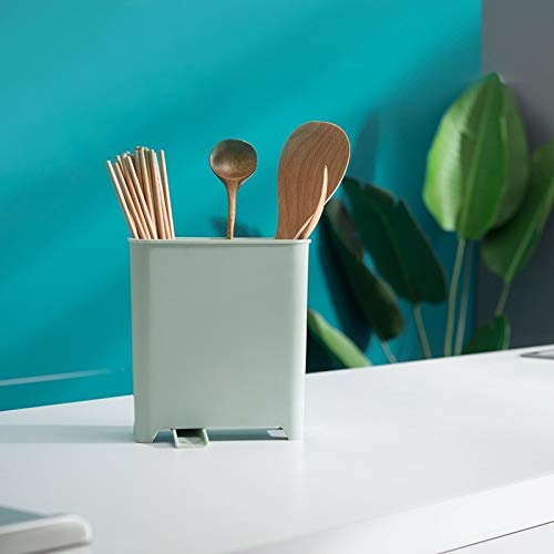 SODIAL Hogar Cocina Cubiertos Drenaje Palillos Cuchara Tenedor Caja de Almacenamiento Estante de Cubiertos Estante de Filtro de Drenaje Extra/íBle Rosa