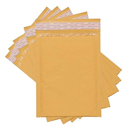 Sales4Less #00 Kraft Bubble Mailers 5X10 Inches Shipping Padded Envelopes Self Seal Waterproof Cushioned Mailer 50 Pack