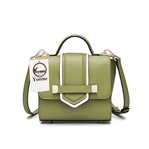 Yoome Kleine Abendtaschen für Frauen Crossbody Tasche Schulter Clutch Mode Geldbörse mit Gürtelschnalle - Grün Grün R6sxqrUgO9