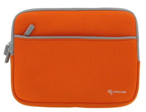 ASUS Eee PC Seashell 1005HA-PU17-BK 10.1-Inch Netbook Neoprene Sleeve SlipCase (Invisible Zipper Dual-Pocket - Orange)