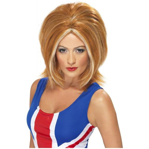 Smiffy's Women's Girl Power Ginger Wig With Blonde Streaks, One Size, 5020570421307