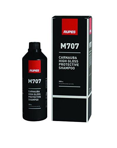 RUPES M707 Car Care Black Carnauba High Gloss Shampoo, 500 ml, 1 Pack