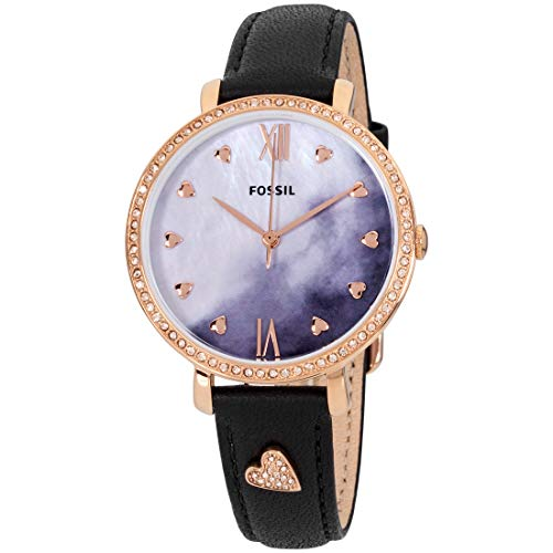 - Fossil Jacqueline Mother of Pearl Dial Leather Strap Ladies Watch ES4533