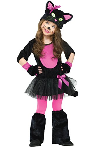 Fun World Costumes Baby Girl's Miss Kitty Toddler Costume, Black/Pink, -