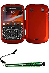 FoxyCase(TM) FREE stylus AND For BlackBerry Bold 9900 Rubberized Cover Case - Orange cas couverture