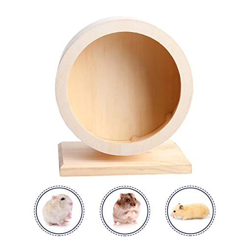 Small Pets Exercise Wheel Hamster Wooden Mute