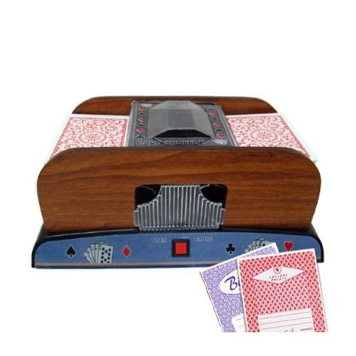 1-2 Deck Deluxe Wooden Card Shuffler - 2 Free Real Casino Decks by Brybelly (Card Designs Free)