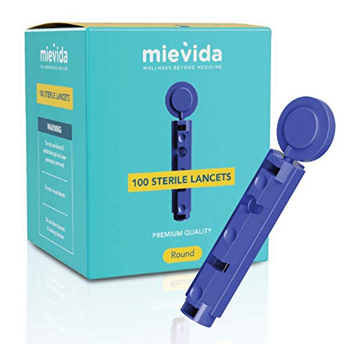 Mievida Sterile Lancets with Universal Design Which Fits Almost All Lancing Devices, 100 Pieces