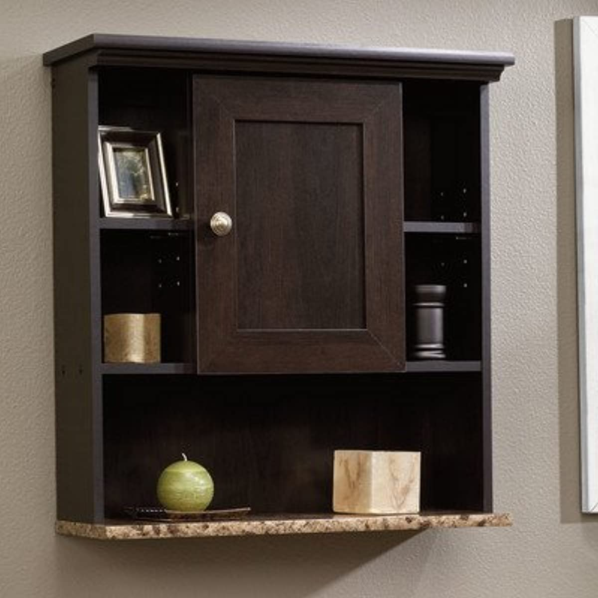 Details About Brown Wooden Over Toilet Cabinet Organizer Storage Shelves Bathroom Wall Mount