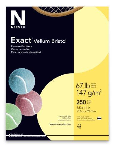 - Wausau Vellum Bristol Cardstock, 67 lb, 8.5 x 11 Inch, Pastel Yellow, 250 Sheets (81338)