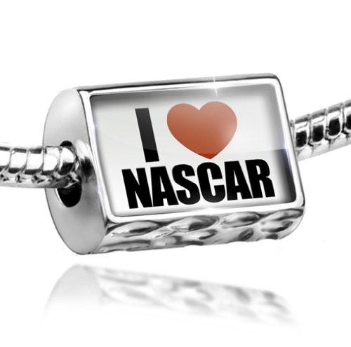 Nascar Charm - Charm I Love NASCAR - Bead Fit All European Bracelets , Neonblond