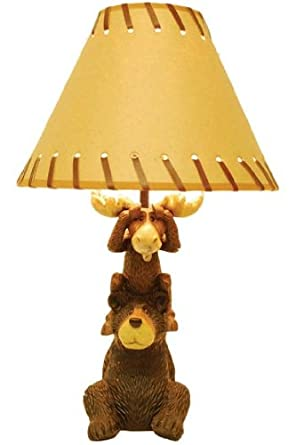Bear Amp Moose Table Lamp Bear Moose Lantern Amazon Com