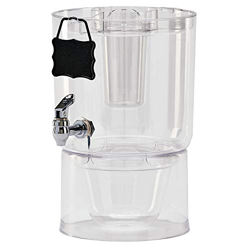 Buddeez 14401C-ONL Party Top New Beverage Dispenser, 1.75 Gallon, Clear (Renewed) -