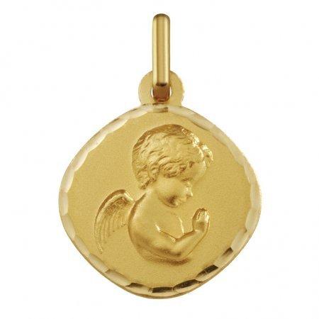 ANGE RAPHAEL PRIANT - Médaille Religieuse - Or 9 carats - Hauteur: 154.5 mm - www.diamants-perles.com