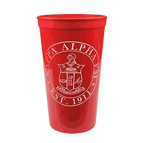 Greekgear Kappa Alpha Psi Red Large Plastic Stadium Cups, Matching Set of 6 ? Fun Cups to Give to Alumni, 32-Ounce Size
