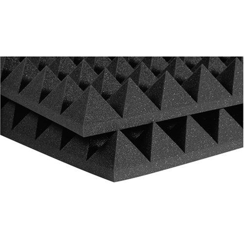 Auralex 4PYR24CHA 4 Studiofoam Pyramid Panels in Charcoal 6-2'x4'x4 panels