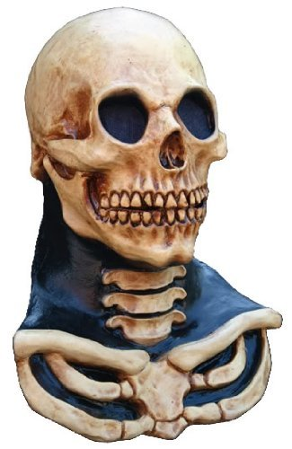 Long Necked Ivory Colour Skull Head and Chest Mask Horror Halloween by Megastore 247