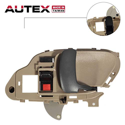 AUTEX Interior Door Handle Front/Rear Right Passenger Side Compatible with Chevrolet,GMC Suburban C/K 1500 2500 3500 Pickup Truck,Chevy Tahoe,GMC Yukon 1995 1996 1997 1998 1999 2000 2001 2002 77571