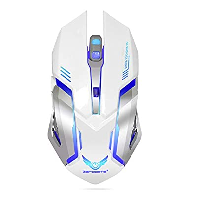 EEEKit Wireless Optical Gaming Mouse w/USB Receiver, 7 Color Changing Wireless Laptop Mouse, Rechargeable Game Mice with 4 Adjustable CPI Levels for PC, Laptop, Computer, Gaming Players