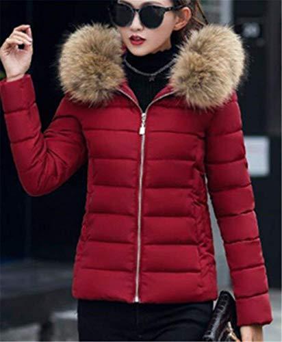 Fourrure Warm El Doudoune Court Capuchon BIRAN Hiver Femme Oversize Manteau avec fIqBBz