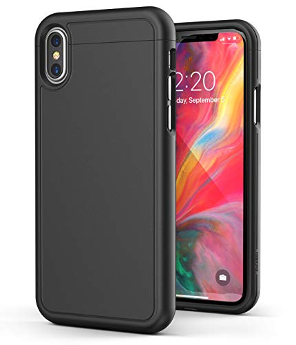 Encased iPhone Xs Max Slim Case Black - Ultra Slim Lightweight Thin Armor Phone Cover (Rubberized Grip) ()