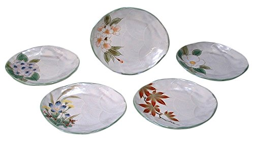 KIYOMIZU Ware Plate Set (5-piece set) Flower by Watou.asia
