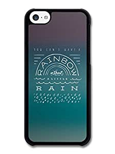 MMZ DIY PHONE CASERainbow and Rain Life & Love Inspirational Quote case for iphone 6 4.7 inch