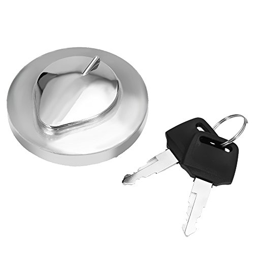 (Fuel Gas Tank Door Cover Cap Fuel Filler Door Cover W/Keys for Honda Shadow Rebel MAGNA VTX VT600 750 1100 1300)
