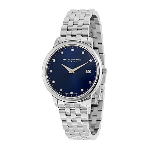 Raymond Weil Women's Toccata Swiss-Quartz Watch with Stainless-Steel Strap, Silver, 15 (Model: ()