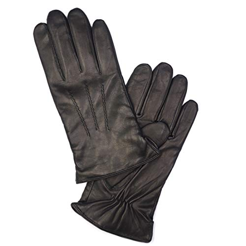 MGGM collection Mens Nappa Lambskin Leather Gloves(100% Wool/Cashmere Lining)