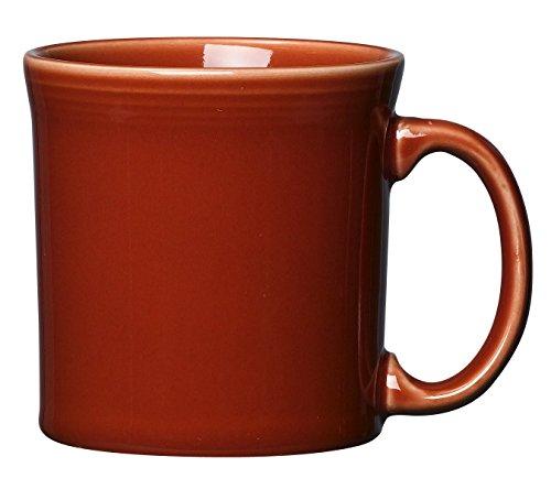 Vitrified Ceramic Mug - Fiesta 12-Ounce Java Mug, Paprika