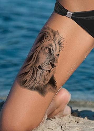 ARM Tattoo León Tattoo Negro HB724: Amazon.es: Belleza