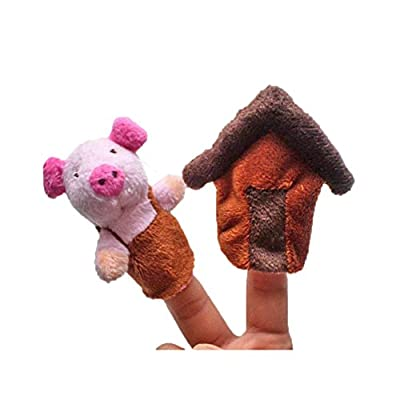 Lanlan 8Pcs Cute Soft Animal Finger Puppets For Picture Book Fairy Tale The Three Little Pigs Children Story Time Parent-child Toys: Toys & Games
