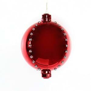 "Alpine LPA109M-RD-TM 7"" Red Xmas Ball Ornament with 76 Chasing LED Light"