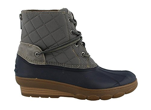 NAVY Saltwater Ankle Wedge Tide Sperry Women's Boots Wool GRAY 5Rq610w