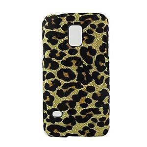 caso duro del patrón de diseño de estampado de leopardo para el mini samsung galaxy s5