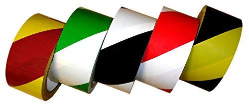 (Laminated Striped Safety Warning Tape (660X0) (6.3 mil, 18 yds, Green-White))