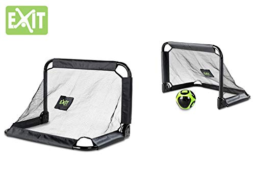 EXIT Pico Steel Soccer Goal 35x24 in (Set of 2) - Black by Exit Toys USA (Image #3)