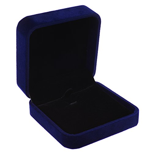 Cosmos ® Royal / Dark / Deep Blue Color Velvet Necklace Pendant Gift Box/Jewelry Box
