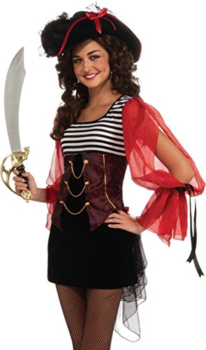 Rubie's Costume Co. Treasure Island Pirate Costume, Standard, Multicolor -