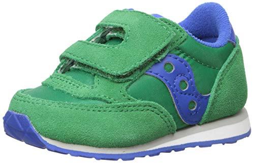 Saucony Boys' Baby Jazz HL Sneaker, Green/Blue, 11 M US Toddler ()