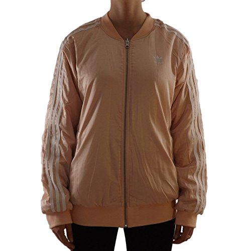 Reversible Adidas Jacket (adidas Originals Womens Love Set Reversible Satin Floral Bomber Jacket (S (US 4)))