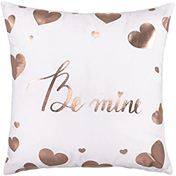Valentine/'s Day Linen Pillow Cover Love Gift Cushion Pillowcase Bed Decor Divine