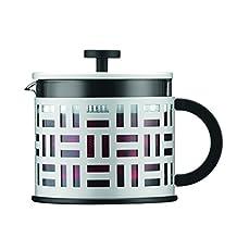Bodum Eileen Modern Off White Glass Teapot Tea Pot Press 1.5L 51oz