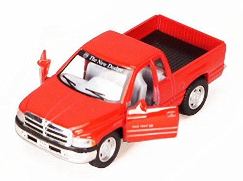 Dodge Ram Pickup Truck, Red - Kinsmart 5018D - 1/44 scale Diecast Model Toy Car