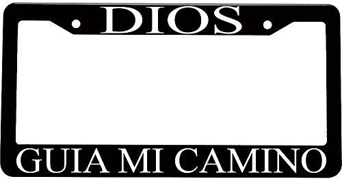Dios guia mi camino spanish christian plastic license plate frame (Decoracion Para Autos compare prices)